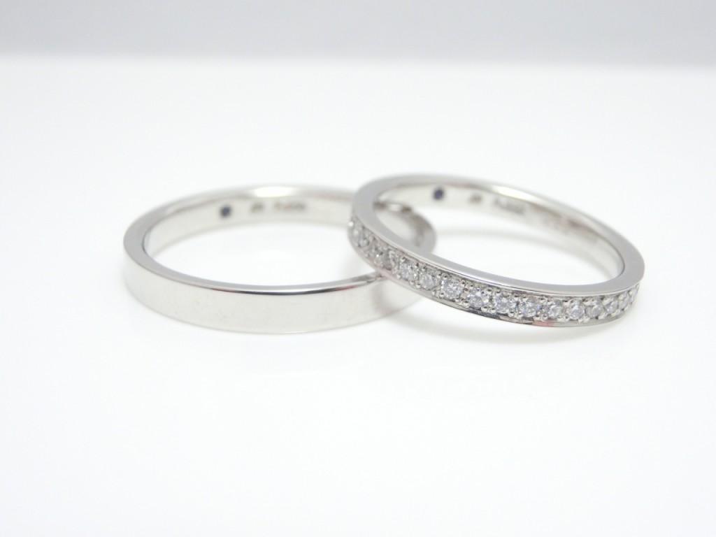 サムシングブルー結婚指輪☆エタニティリング