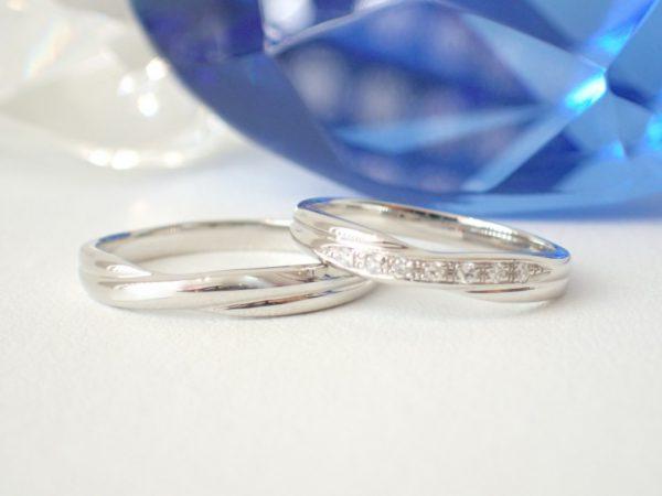 マリッジリング☆サムシングブルー 結婚指輪 - マリッジリング その他