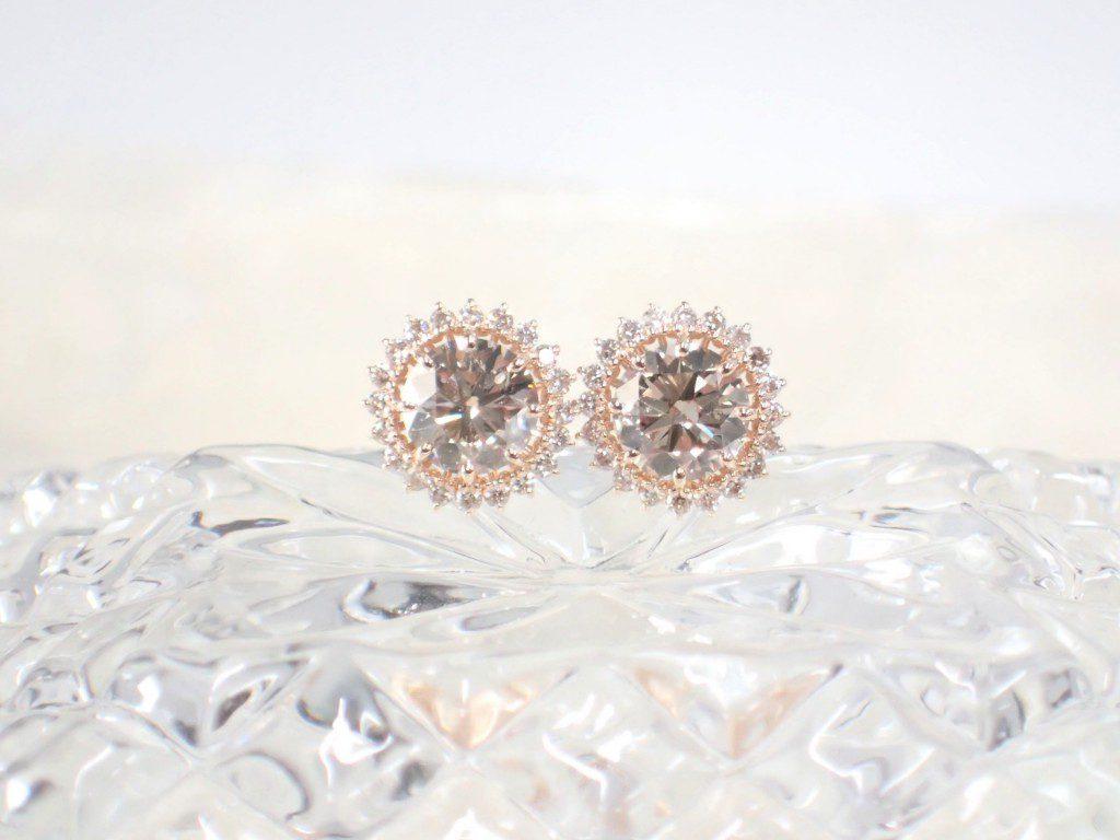 oomiya和歌山本店☆ブラウンダイヤモンドのピアスが入荷しました♪