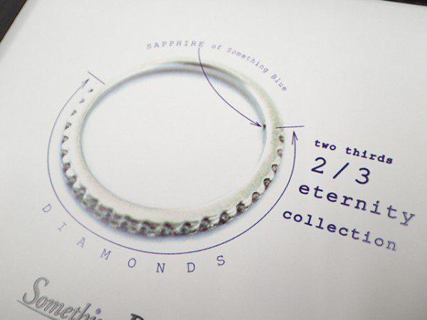 サムシングブルーエタニティリング ファッションジュエリー 結婚指輪 - マリッジリング ブライダル