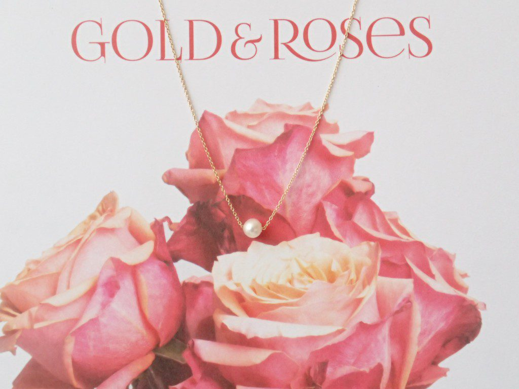 GOLD&Roses☆淡水パールネックレス&ブレスレット