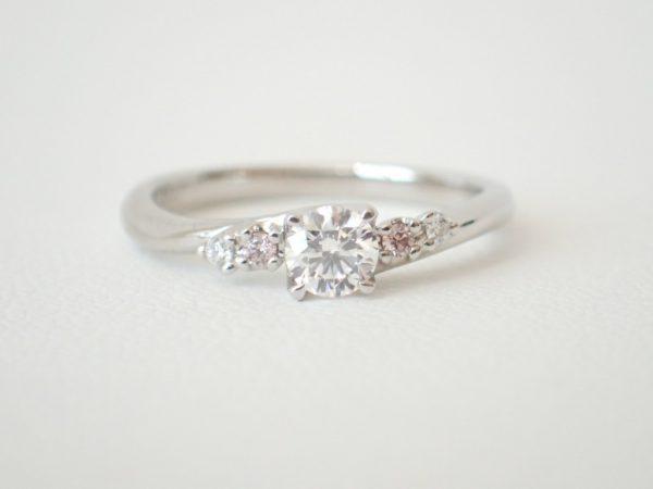 カフェリング☆可愛さと上品さもあるエンゲージリング 結婚指輪 - マリッジリング ブライダル 婚約指輪 - エンゲージリング