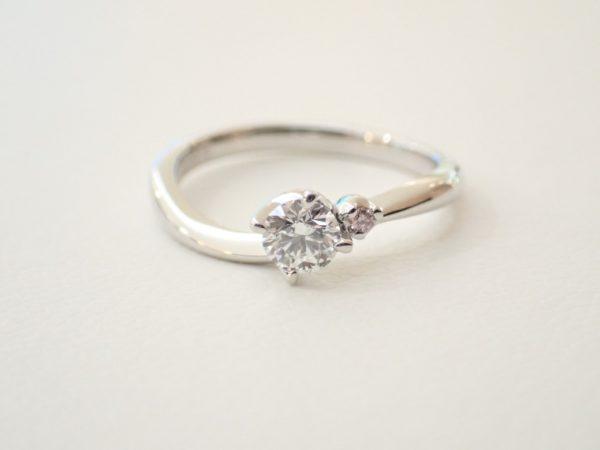 ピンクダイヤで可愛らしさをプラス☆カフェリング ブライダル 婚約指輪 - エンゲージリング その他