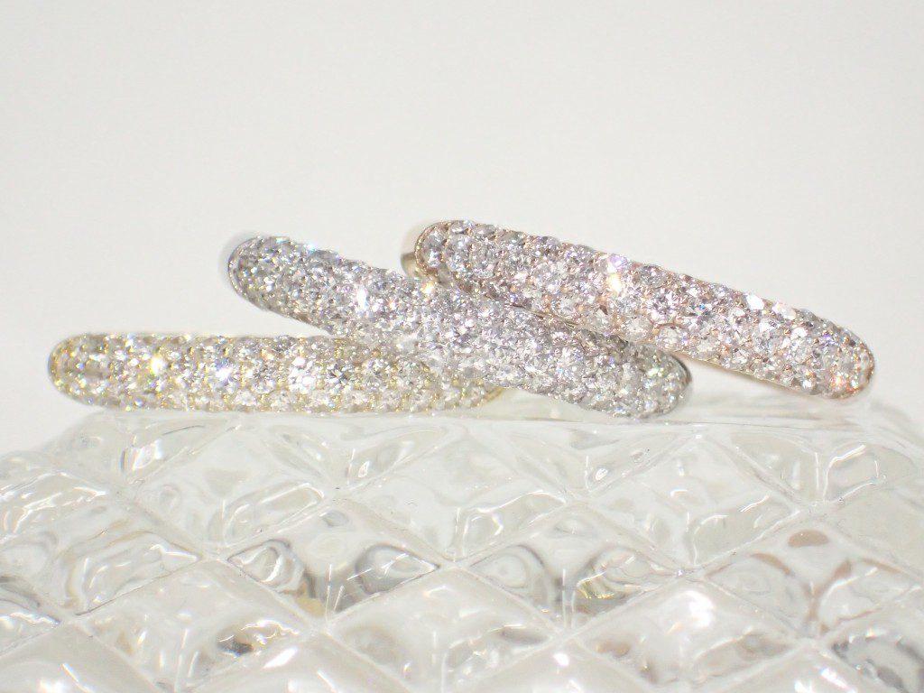 oomiya和歌山本店にスリムなパヴェダイヤモンドリングが入荷しました♪