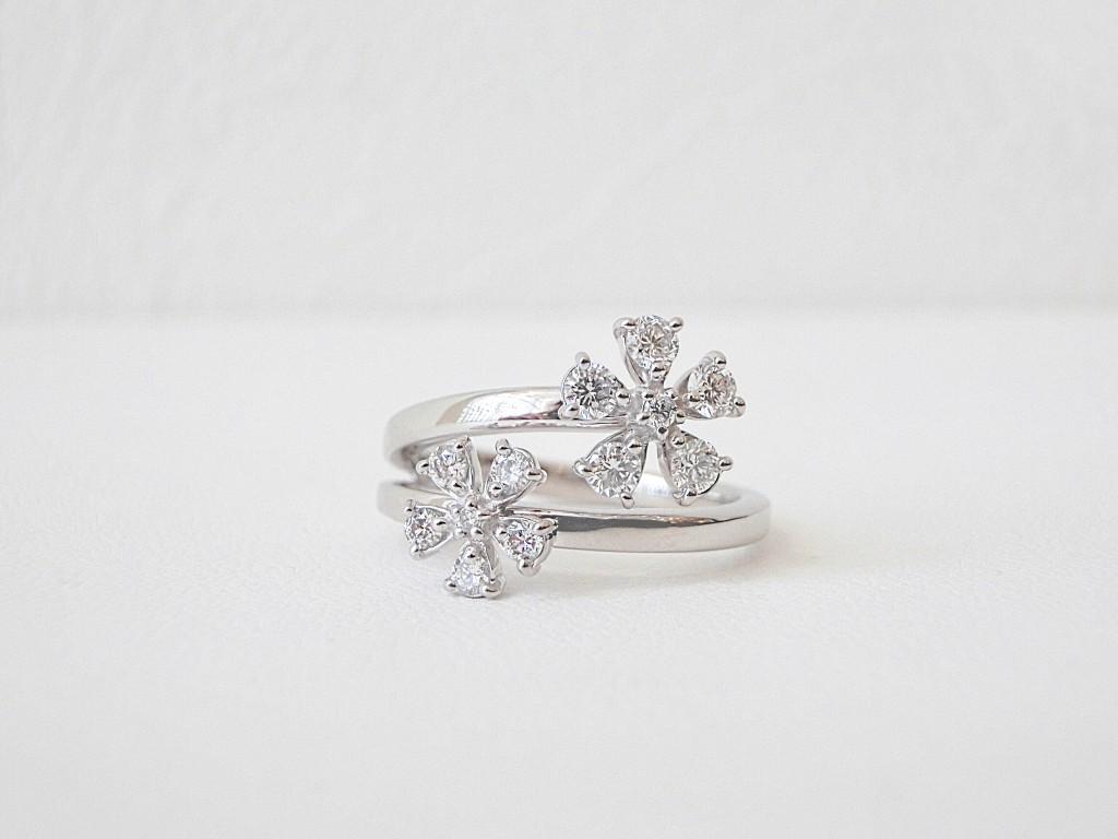 さくら満開♡きらきらのダイヤモンドリングでおしゃれしてお出掛けいたしましょう♪