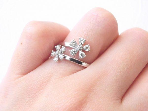 さくら満開♡きらきらのダイヤモンドリングでおしゃれしてお出掛けいたしましょう♪ ファッションジュエリー