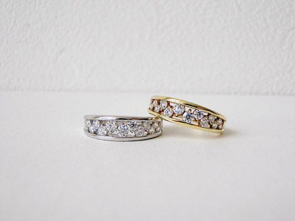 お出掛けにもピッタリ♡デュアンスのきらきらダイヤモンドリング ファッションジュエリー