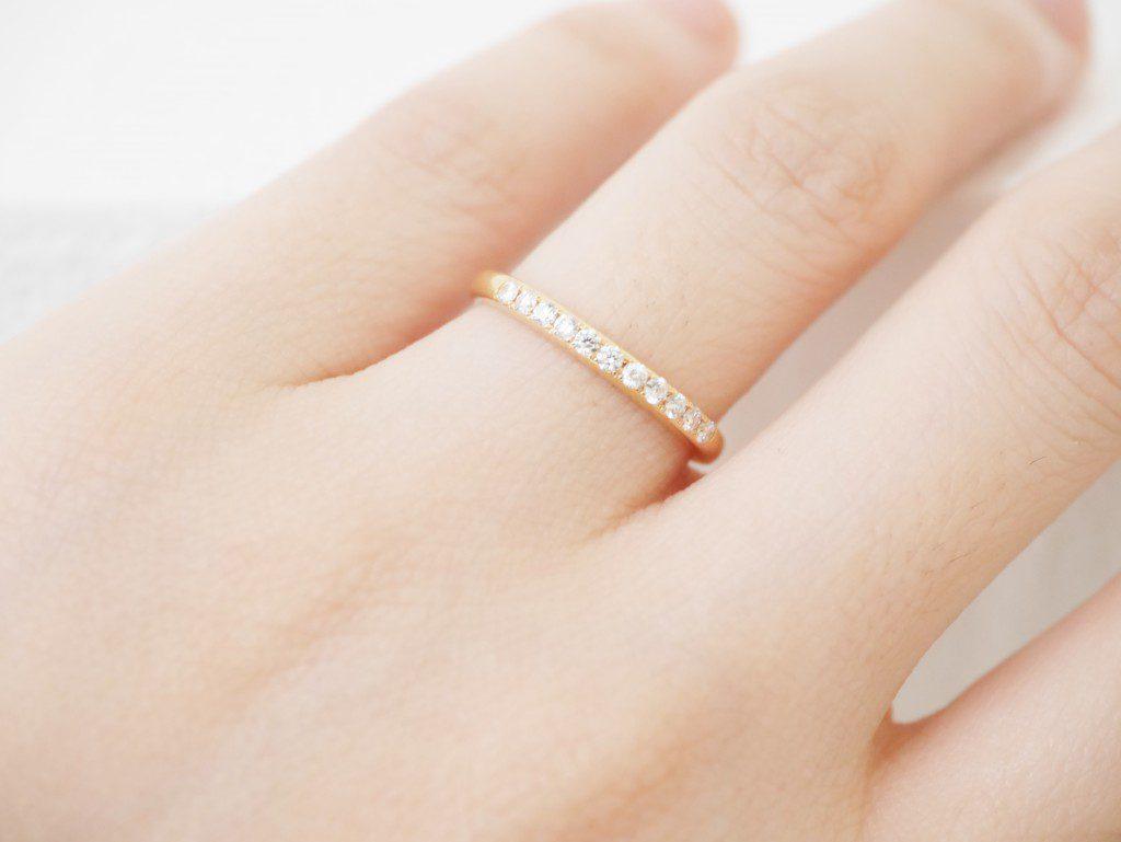 ゴールドの結婚指輪もカワイイ!