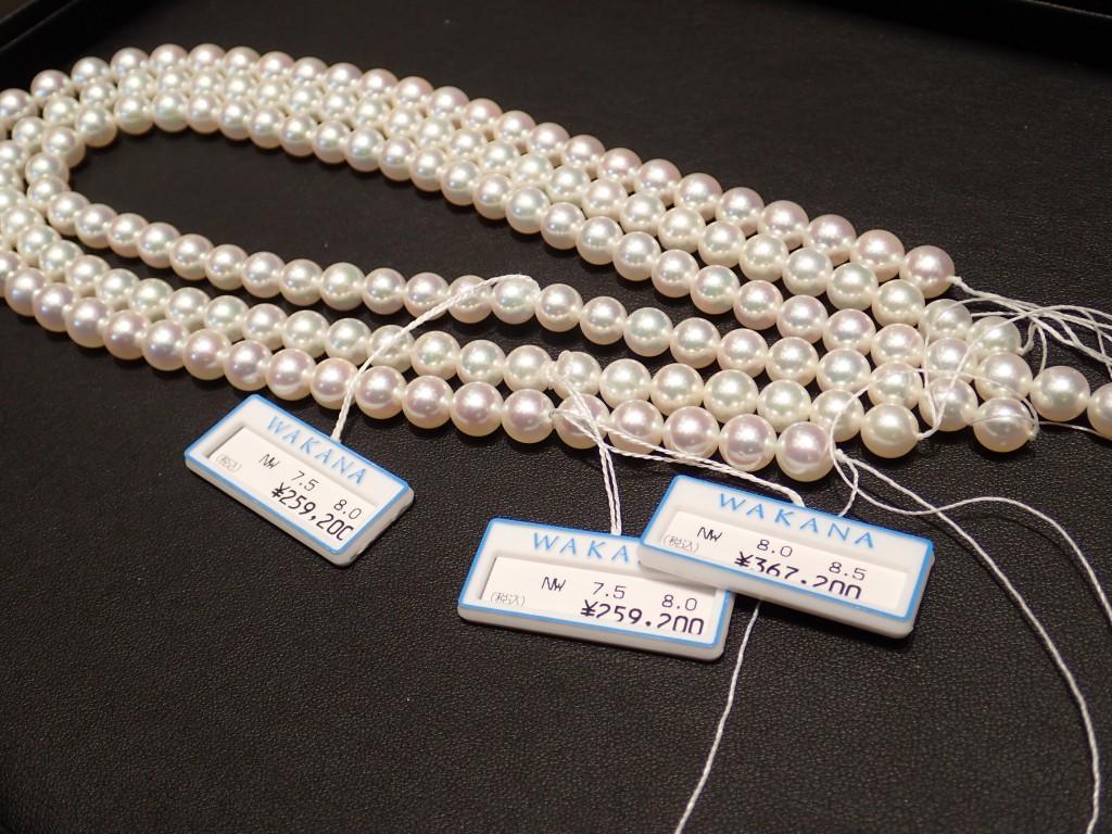 上品な輝きを放つ純国産真珠『WAKANA』新珠ネックレスが間もなく入荷!