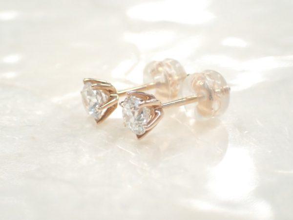 一粒ダイヤモンドのピンクゴールドジュエリーが久々に入荷しました♪ ファッションジュエリー