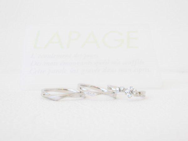 花言葉は『二人の門出』ラパージュ☆スイートピー 結婚指輪 - マリッジリング 婚約指輪 - エンゲージリング 婚約指輪&結婚指輪 - セットリング
