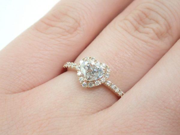 ピンクゴールド×ハートシェイプのダイヤモンドリングが入荷しました♪ ファッションジュエリー