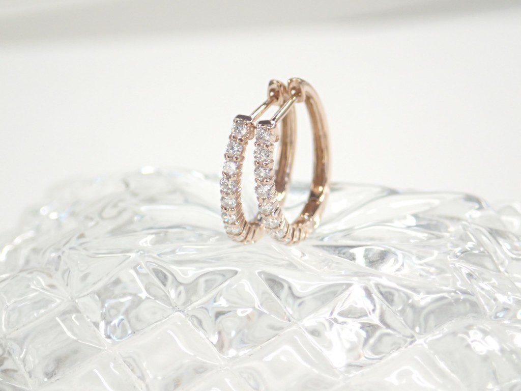 2018年1月和歌山本店の新入荷商品はピンクゴールドのダイヤモンドフープピアス♪