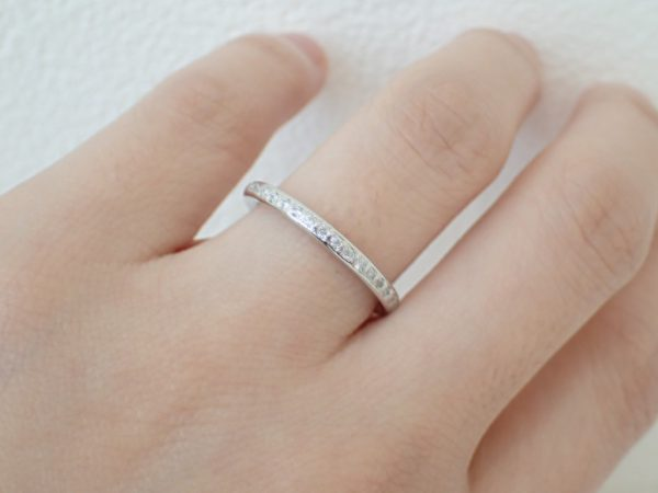 oomiya和歌山本店で人気のハーフエタニティリング! 結婚指輪 - マリッジリング ブライダル 婚約指輪 - エンゲージリング