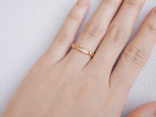 フラージャコー/サクラの形をしたマリッジリング 結婚指輪 - マリッジリング