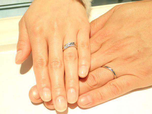 ご結婚10週年にカフェリングのダージリンンをお選びいただきました♪ 結婚指輪 - マリッジリング ブライダル お客様の声