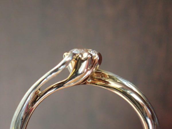 桜一輪☆杢目金屋でこだわってエンゲージリングを作りませんか? 結婚指輪 - マリッジリング ブライダル 婚約指輪 - エンゲージリング 婚約指輪&結婚指輪 - セットリング