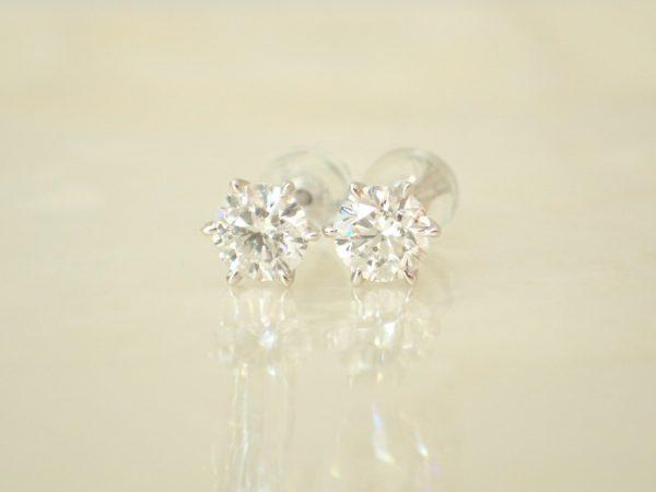 お客様リクエストのダイヤモンドピアス☆お好みのデザインでお作りします♪ ファッションジュエリー 真珠 - パール
