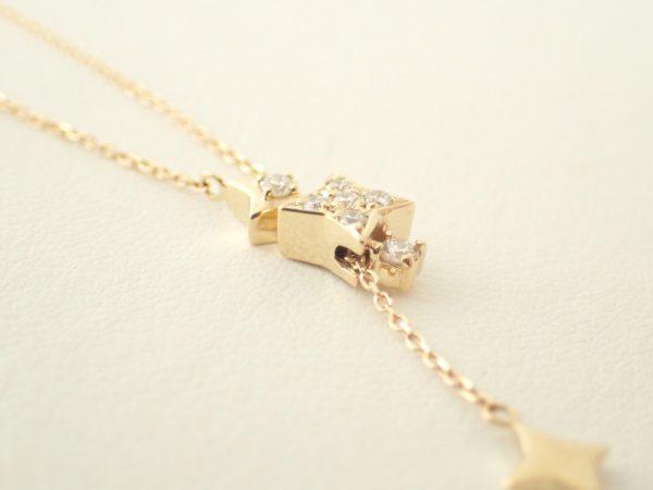 流星を想わせるK18YGダイヤモンドネックレスが入荷しました☆ ファッションジュエリー