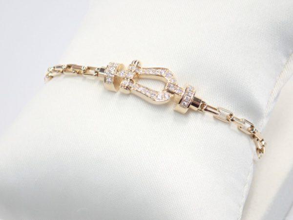 フレッドフォース10ブレスレット☆女性らしい印象の組み合わせ フレッド ファッションジュエリー