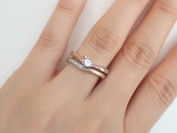 杢目金屋の杢目つむぎ/細身でエンゲージリングとかさねづけがオススメ。 結婚指輪 - マリッジリング ブライダル 婚約指輪 - エンゲージリング 婚約指輪&結婚指輪 - セットリング
