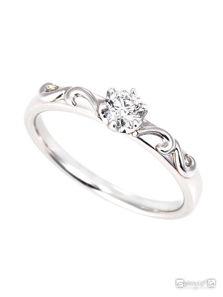 星の砂|ヴィーナス - HLS3780 婚約指輪(エンゲージリング)