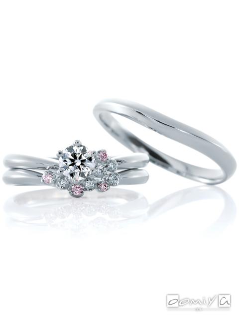 カフェリング|セットリング(結婚指輪&婚約指輪) ジャルダンドゥロゼ デュー&ジャルダンドゥロゼ