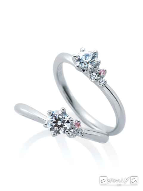 カフェリング|婚約指輪(エンゲージリング) ジャルダンドゥロゼ デュー - CEA056X