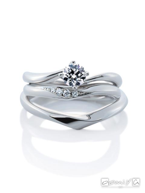 カフェリング|セットリング(結婚指輪&婚約指輪) リリィ デュー&リリィ