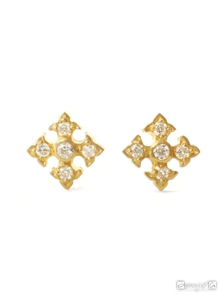 ローリーロドキン|Tiny Fancy Cross Stud Earring/ピアス - H139-004