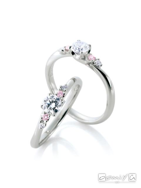 カフェリング|婚約指輪(エンゲージリング) レーヴ デュー -  CEA037X