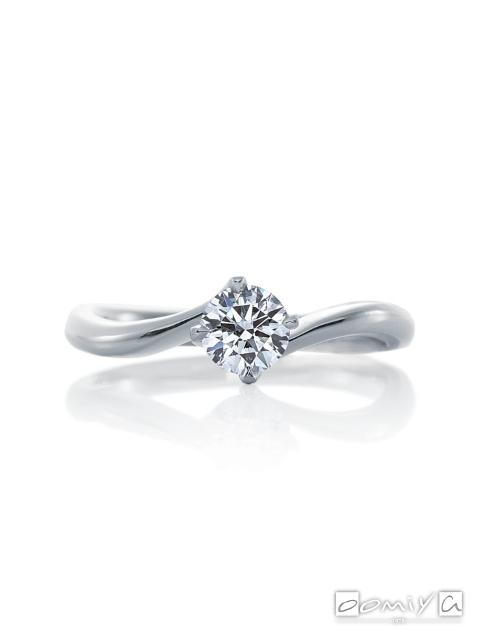 カフェリング|婚約指輪(エンゲージリング) リリィ デュー - CEA031X