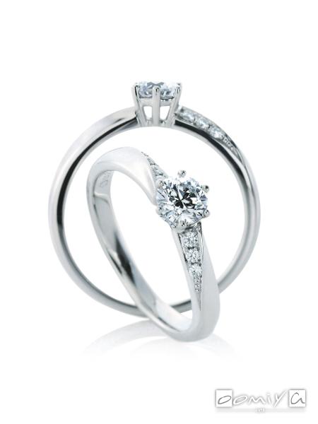 カフェリング|婚約指輪(エンゲージリング) ウイ デュー - CEA041X