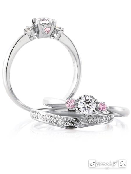 カフェリング|セットリング(結婚指輪&婚約指輪) アンジェ&ヴァニーユ