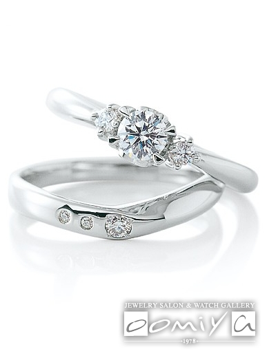 カフェリング|セットリング(結婚指輪&婚約指輪) アンジェ&フィナンシェ