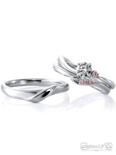 カフェリング|セットリング(結婚指輪&婚約指輪) ローズヒップ デュー&ローズヒップ