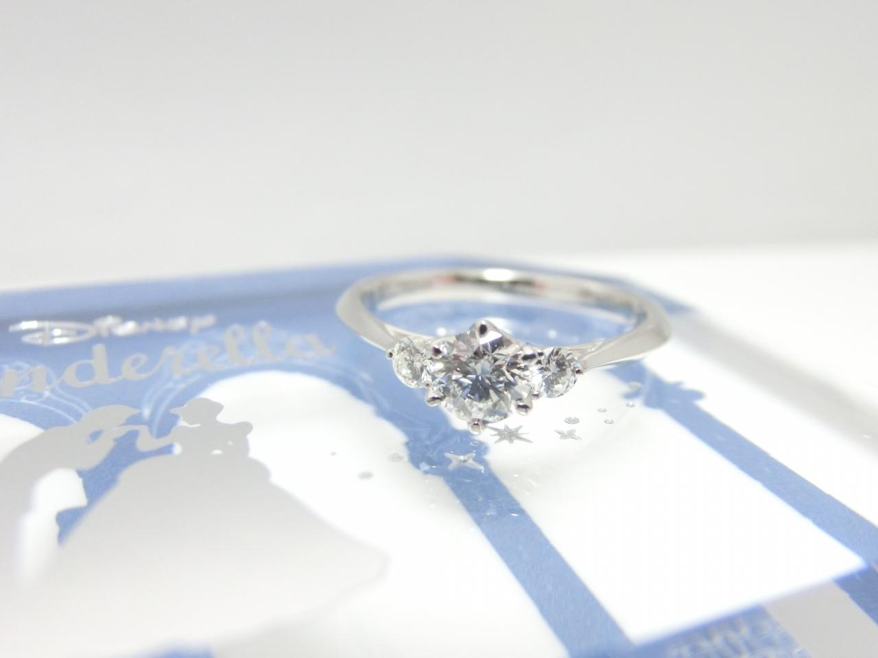「ディズニーシンデレラ」 0.5ctのダイヤモンドもセッティング可能になりました♪