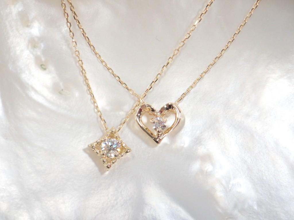 母の日ギフトにおすすめのダイヤモンドネックレスが入荷しました♪