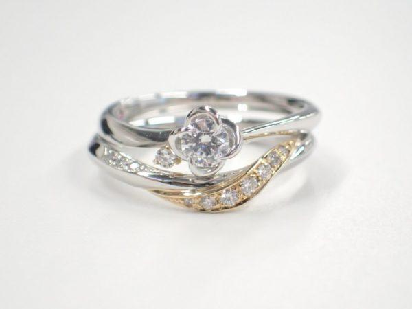 美女と野獣ブライダルコレクション☆新たな組み合わせのセットリング 結婚指輪 - マリッジリング ブライダル 婚約指輪 - エンゲージリング 婚約指輪&結婚指輪 - セットリング