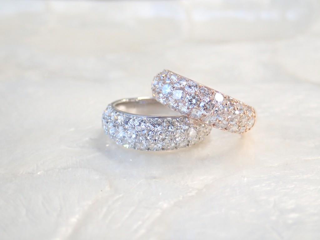 入荷したてのダイヤモンドパヴェリング☆一年のご褒美にいかがですか?