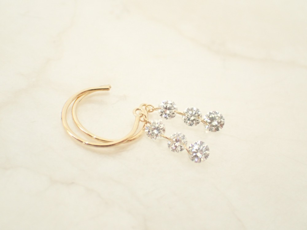 ありのままの輝きを☆アーカーのダイヤモンド『 ベアピアス 』