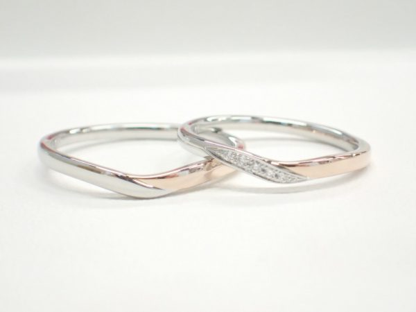 ☆ノクル☆よりプラチナとピンクゴールドを使用したコンビネーションリング登場♪ ファッションジュエリー 結婚指輪 - マリッジリング ブライダル