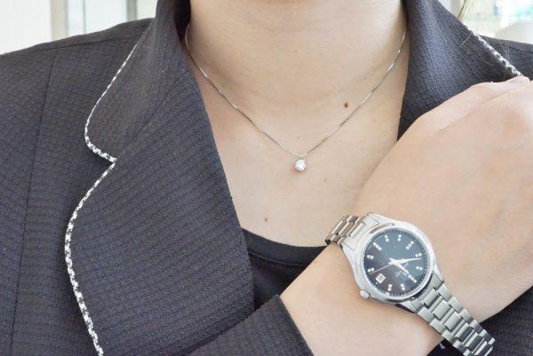 グランドセイコーにプラス☆一粒ダイヤネックレス ファッションジュエリー イベント・フェアー