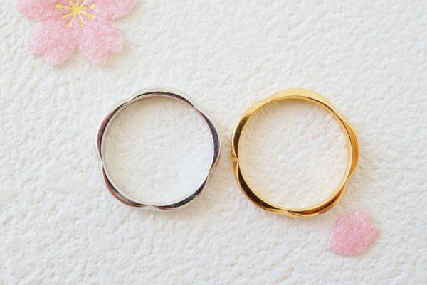 フラージャコー◇手元に咲き続けるsakura❀ 結婚指輪 - マリッジリング 婚約指輪 - エンゲージリング 婚約指輪&結婚指輪 - セットリング
