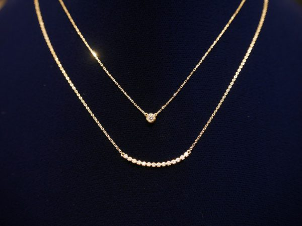 ホワイトデイギフトにお勧め☆アーカー人気の一粒ダイヤネックレス ファッションジュエリー アーカー