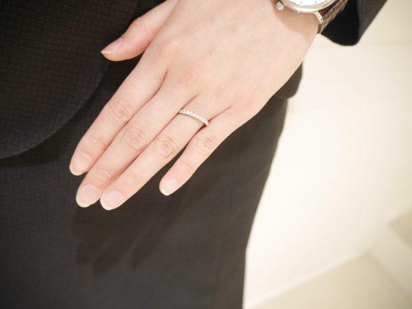 ブライダル、ファッションリングとしても♡サムシングブルーのエタニティリング ファッションジュエリー 結婚指輪 - マリッジリング ブライダル