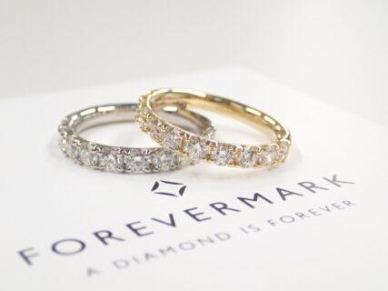 記念の指輪にはフォーエバーマークのエタニティリングが最適です☆