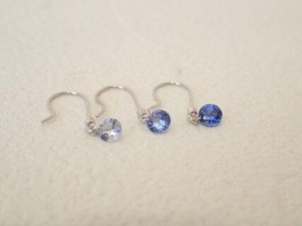 淡青~濃紺までどのブルーがお好み?オオミヤセレクトジュエリー サファイアピアス