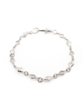 MIXED DIAMOND SHAPED/CROSS OPEN/SOLID LINK/ブレスレット