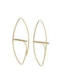 Gossamer Floating Diamond Bar Oval Earring M